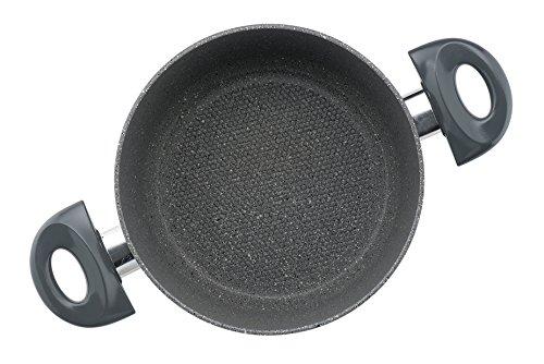 Essenso Neogranite Stone Austin Low Casserole, Dishwasher Safe, Nonstick Italian Stone Coating, 3 Quart
