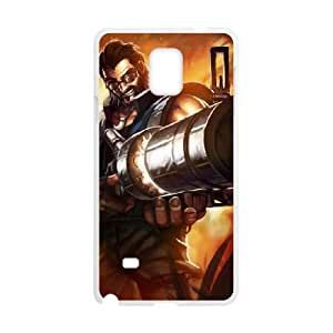 Samsung Galaxy Note 4 Cell Phone Case White League of Legends Hired Gun Graves OIW0410939