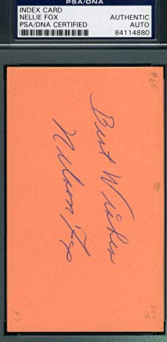 NELLIE NELSON FOX PSA DNA COA Autograph 3x5 Signed Index Card