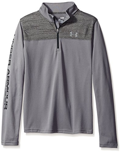Under Armour Boys' Tech ¼ Zip, Graphite (041), Youth (Youth Quarter Zip Pullover)
