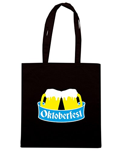 T-Shirtshock - Bolsa para la compra BEER0087 Oktoberfest Beer Team Negro