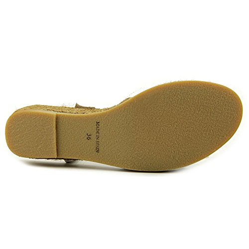 Eric Michael Nobo Skimmer Vintage Läder Fodrad Espadrille Komfort Sandal Vit
