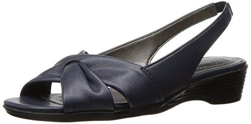 LifeStride Women's Mimosa 2 Flat Sandal, Lux Navy, 8 M US by LifeStride