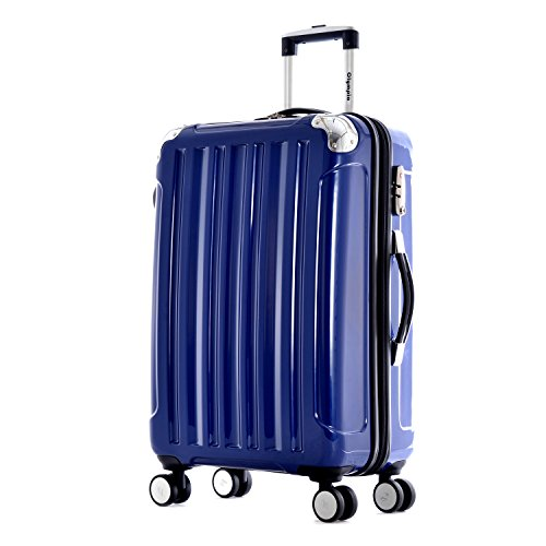 Olympia Stanton 25-inch Mid-Size Hardcase Spinner with TSA Lock Bu, Brown