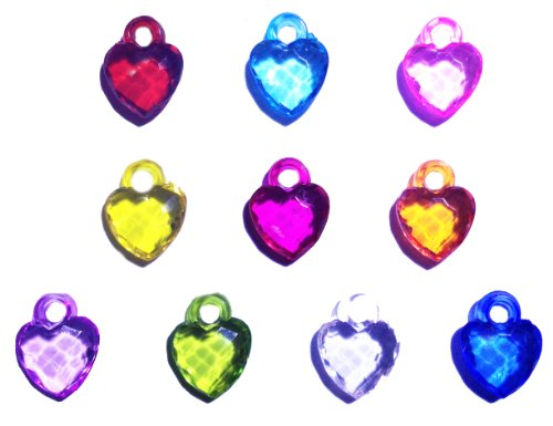 Dazzling Heart Charms Silicone Bracelets