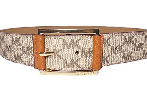 Michael Kors Womens Tan/Brown Logo Belt ()