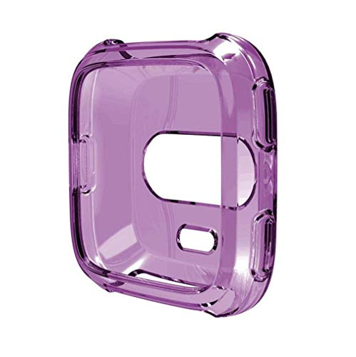 Fashion Clearance! Noopvan Fitbit Versa Protector, Soft TPU Protection Silicone Full Case Cover for Fitbit Versa (Purple) by Noopvan Strap (Image #3)