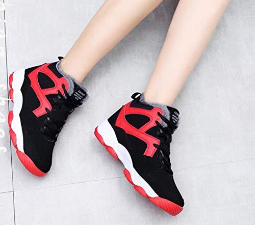 Donna Punta colore Donna Con Dimensione A poliuretano Ginnastica Scarpe C 38 Comfort Da Casual Sneakers He B yanjing Piatto Pu Tacco XwqaZpw41