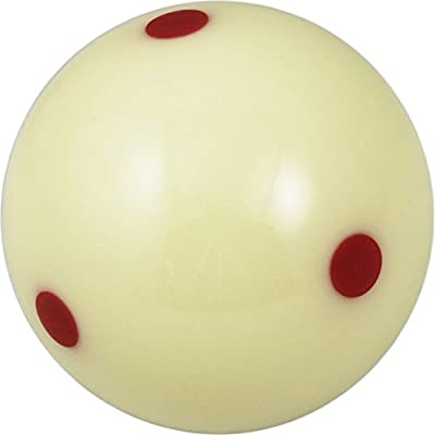 """Aramith 2-1/4"""" Regulation Size Billiard/Pool Ball: Super Aramith Pro Cup Cue Ball with 6 Red Dots"""