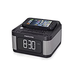 Memorex Alarm Clock Jumbo 1.2 LCD Display Full-Range speakers with FM radio with Dual 2x USB Charging + Aux line-in connection (Certified Refurbished)