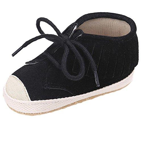 Monate Schuh 12 6 weiche ~ Schwarz Flats Quasten Sohle Schuhe Schuhe Baby weiche Mädchen Bandage Hunpta Beige Alter xgZCZ6