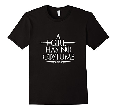 Easy Classic Halloween Costumes (Mens Funny A Girl Has No Costume TShirt Easy Halloween Costume 2XL Black)