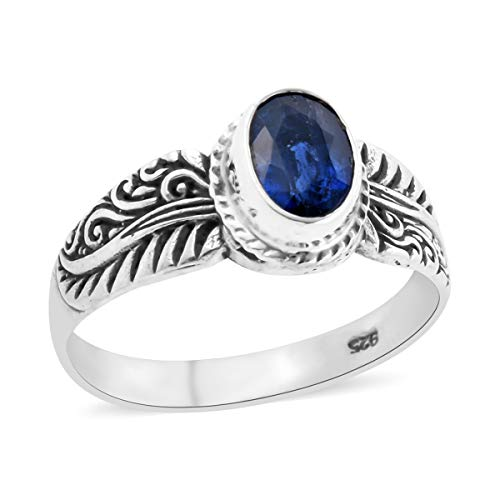 Solitaire Ring 925 Sterling Silver Oval Kyanite Jewelry for Women Size 8 Ct 1.4