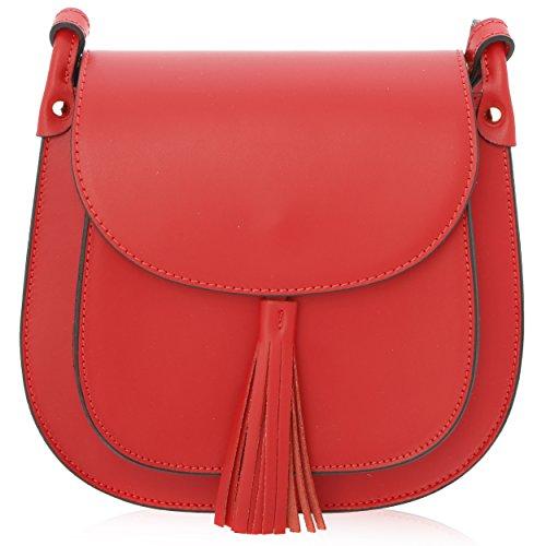 Sac Porté épaule pour Femme Made in Florence Cuir Véritable 23*21*7 cm Rouge