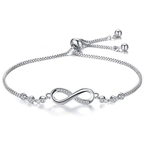 ASHMITA Fashion Infinity Bracelet for Women Silver Bracelet Adjustable Everyday Jewelry from ASHMITA