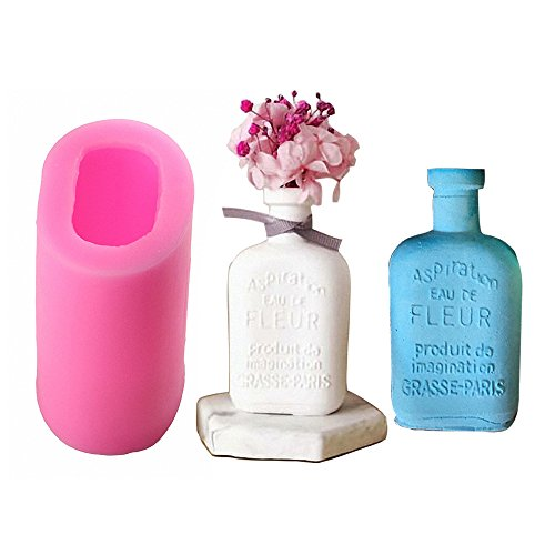 MoldFun 3D France Paris Perfume Bottle Vase Silicone Mold for Chocolate, Fondant, Cake Topper Decorating, Soap, Candle, Lotion Bar, Plaster of Paris ()