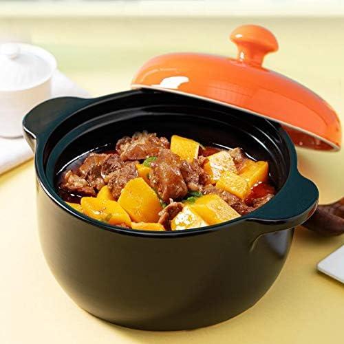 Casserole, pot en céramique, soupe, bouillie, cuiseur à riz, cuisinière antiadhésive à haute température à deux oreilles, cadeau 4L de gaz à flamme nue-4L