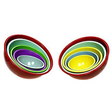 Martha Stewart Food Network Melanine Nesting Mixing Prep Bowls Set of 5 Color...