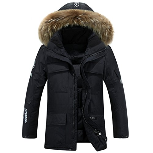 in jacket black winter down hooded Outdoor casual and men's warm XXL short HHY WnZzASqw18