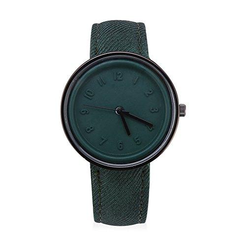 Brino Wristwatch, 4 Colors Fashionable Analog Quartz Watch PU Leather Band Round Alloy Case (Fashionable Pu Band)