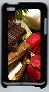 iPod 4Case Chocolate and roses PC Custom iPod 4Case Cover Black