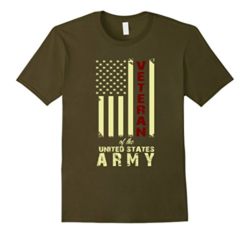 Men's Veteran Of The United States Army. Funny Gift For Veteran. XL Olive