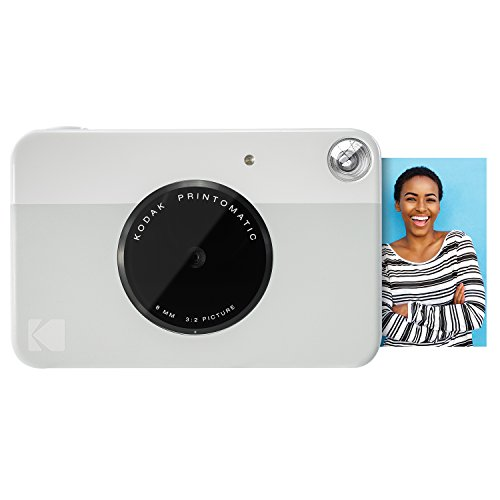 Kodak PRINTOMATIC Digital Instant Print Camera (Grey), Full Color Prints On ZINK 2x3