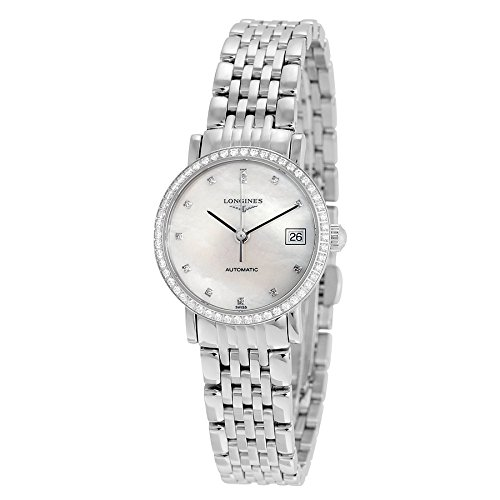 Longines-L43090876-Elegant-Women-Watch-Mother-Of-Pearl-Dial-Stainless-Steel-Case-Automatic-Movement