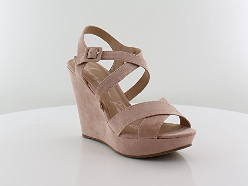 American Rag Womens Rachey Open Toe Ankle Strap Wedge Pumps, Blush, Size 9.5 from American Rag