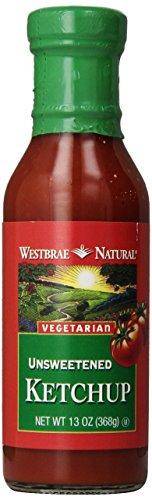 Westbrae Natural Vegetarian Unsweetened Ketchup, 13 oz