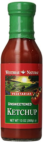 Westbrae Natural Vegetarian Unsweetened Ketchup, 13 oz