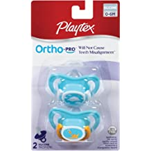 Playtex 2 Piece Ortho-Pro Silicone Pacifier, Newborn (Discontinued by Manufacturer) by Playtex