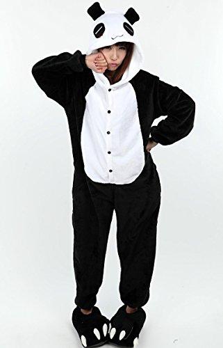 Aivtalk Damen Herren Flannel Schuhe Unisex Winter Hausschuhe Tier Cosplay Kostüme Zubehör Tierkostüme - Schwarz M für Größe 34-38 Panda