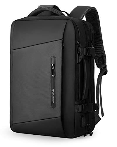 Markryden Laptop Backpack Raincoat carry-on travel backpack water-proof expandable backpack with Rain Cover USB Charging Port for School Travel Work Bag Fits 17.3/15.6 Inch Laptop