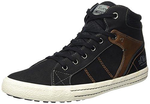 Hommes S.oliver 15202 Noirs Haute Sneaker (noir)