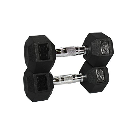 Fitness Republic Hex Dumbbells 20 lbs Set (Hand Weights)