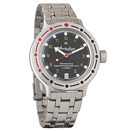 Vostok Amphibian New 420270/ 2416b Russian Military Divers Automatic Mens Watch - Diver Russian Watch
