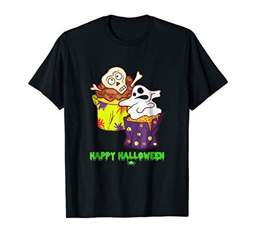 Happy Halloween Zombie Shirt Cupcake Muffin Bakery