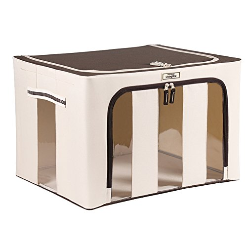 livingbox 70 quart 66 liter extra large foldable storage containers fabric ebay. Black Bedroom Furniture Sets. Home Design Ideas