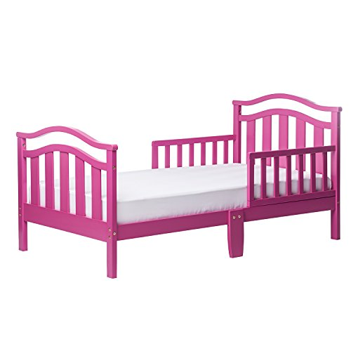 Pink Toddler Bed - Dream On Me Elora Collection Toddler Bed, Fuschia Pink,