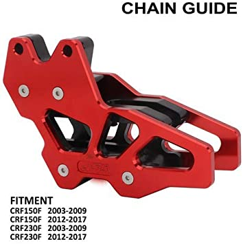 Motorbike Red Plastic Sprocket Chain Guide Glue Guard And Lower Chain Slider For HONDA CRF150F 2003 2004 2005 CRF230F 2003-2017 AnXin