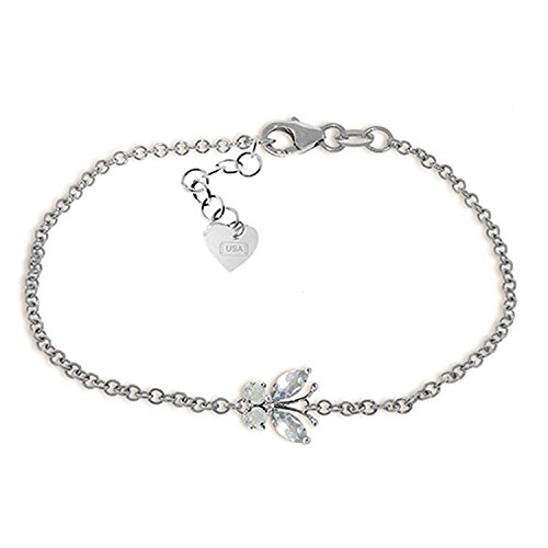 Galaxy Gold 0.6 Carat 14K Solid White Gold Butterfly Bracelet ()