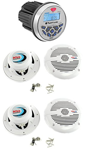 Planet Audio PGR35B 3.5-Inch Gauge Marine MP3/Radio Receiver Bluetooth with 4) Speakers