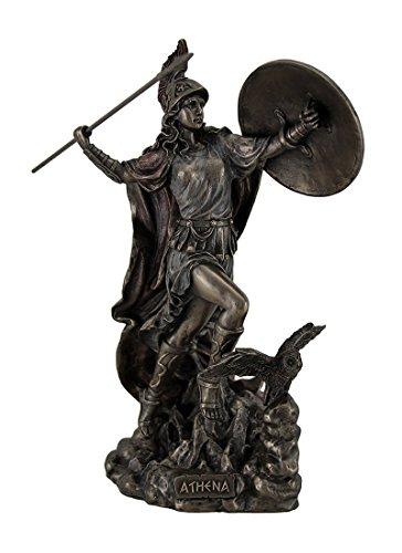 (Athena Greek Goddess Throwing Javelin Statue Sculpture Minerva )