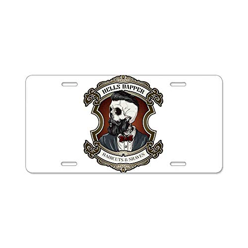 AhuiA-Hells Dapper Gifts Custom Personalized Aluminum Metal Novelty License Plate Cover Front Auto Car Accessories Vanity Tag- 6x12 Inches