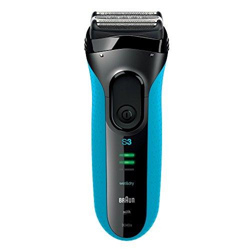 Braun Series 3 3040s elektrischer Rasierer / Rasierapparat mit Ersatz-Scherfolie / Scherteil 32B - Elektrorasierer, blau