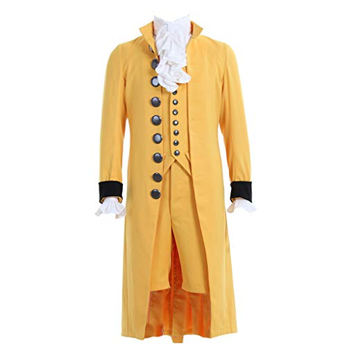 1791's lady 18th Century Men's Victorian Fancy Outfit Regency Tailcoat Vest Costume XL Yellow