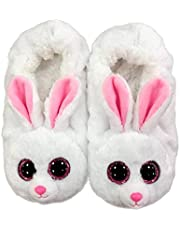 Ty Fashion pantoffels Bunny Large maat 35/37, meisjes, wit, EU