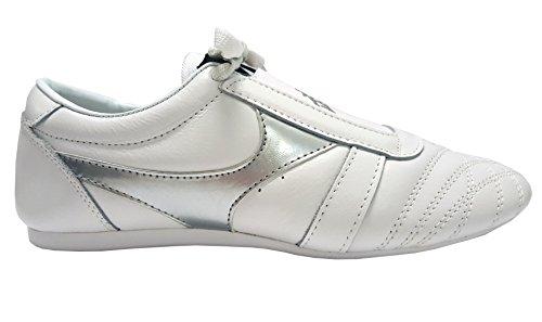 Blanc Martiaux Double Y En Chaussures Cuir Arts cqqYrp4gf