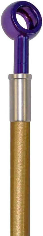 Pro Braking PBF4126-GLD-PUR Front Braided Brake Line Gold Hose /& Stainless Purple Banjos